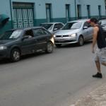 travessia do pedestre em frente ao ICSA