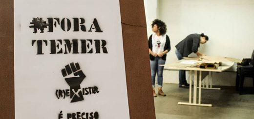 Preparação do primeiro ato do coletivo (R)existir é Preciso / Foto: Mídia Ninja